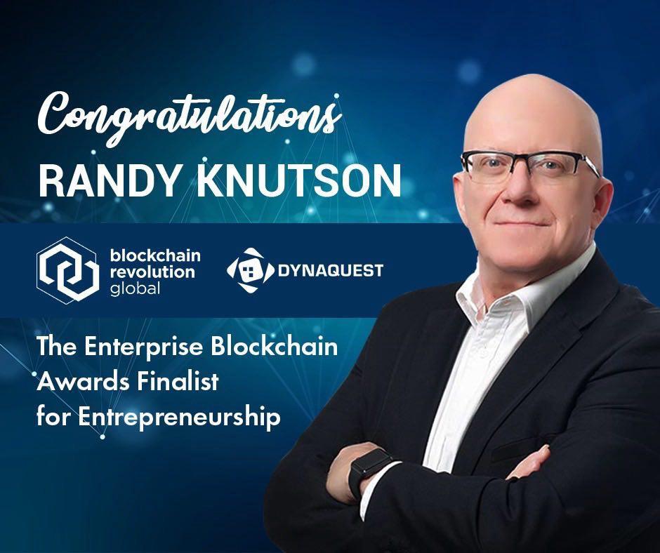 The Enterprise Blockchain Awards Finalist for Entrepreneurship: Randy Knutson